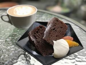 ガトーショコラとカフェラテ